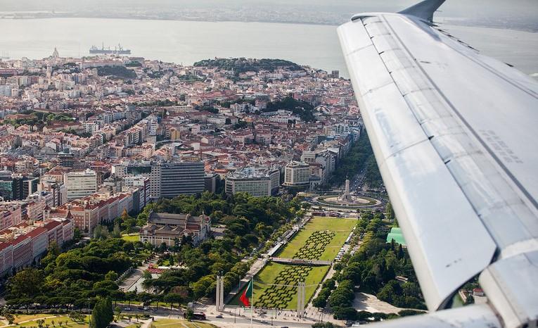 Подлетаем к Португалии