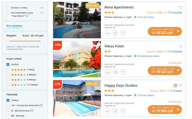 Греция отели