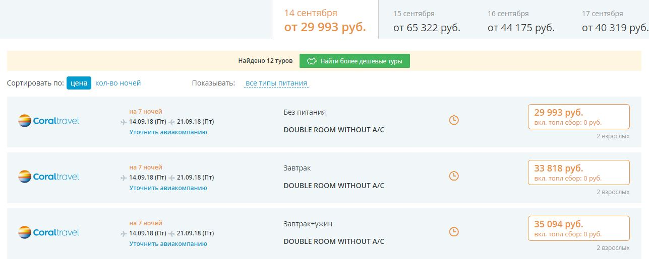 Тур в Грецию по системе Fortuna за 15 000 рублей
